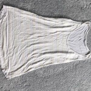 Liz Lange white maternity tank top